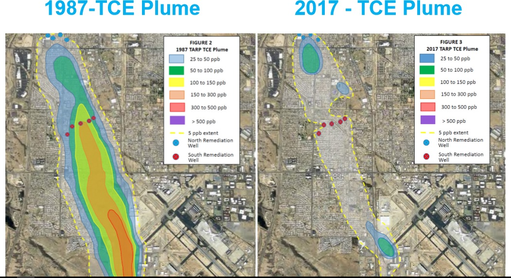 Before and Later — Pre-1987 to 2017 — Toxic Water ContaminationComparison