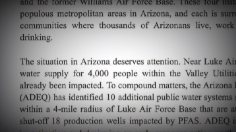 KVOA: Ducey urges Defense Department to take action on contaminated groundwater near militarybases